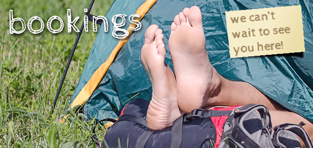 Bookings, Barefoot campsites, Appletoon